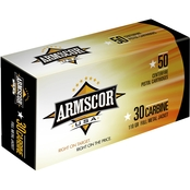 Armscor .30 Carbine 110 Gr. FMJ, 50 Rounds