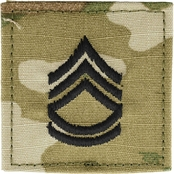Army Rank Sergeant First Class (SFC) Velcro (OCP), 2 Qty per pkg