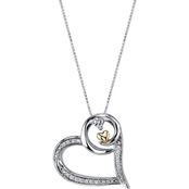 Wishes & Dreams by Leeza Gibbons Sterling Silver 1/8 CTW Diamond Heart Pendant
