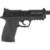 S&W M&P 22 LR 3.6 in. Barrel 10 Rnd 2 Mag Pistol Black with Thread Adapter