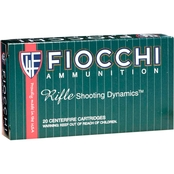 Fiocchi .308 Win 180 Gr. Pointed Soft Point, 20 Rounds