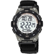 Armitron Men's Sport Brown Accent Digital Chronograph Nylon Strap Watch 40/8330BLK