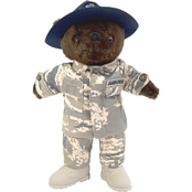 Bear Forces of America 11 in. Plush Bear in Air Force Drill SGT ABU Uniform Male