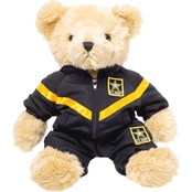 Bear Forces of America 16 in. Plush Bear in the Army PT Uniform