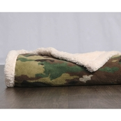 Uniformed Army Oversized Ultra Plush Sherpa and Fleece Blanket