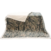 Uniformed Air Force Oversized Ultra Plush Sherpa and Fleece Blanket