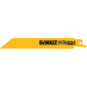 DeWalt 6 in. 10/14 TPI Reciprocating Blade 5 pk.
