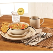 Simply Perfect 32 pc. Banded Dinnerware Set