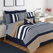 IZOD Classic Stripe 4 pc. Queen Comforter Set