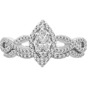 Love Cuts 14K White Gold 3/4 CTW Diamond Bridal Set
