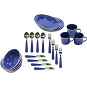 Stansport 24 pc. Enamel Camping Tableware Set