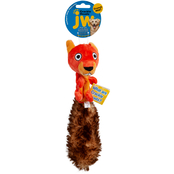 Petmate JW Pet Crackle Heads Plush Skippy Squirrel Dog Toy, Medium