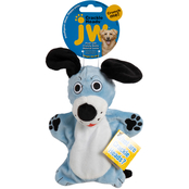 Petmate JW Pet Crackle Heads Plush Dougie Dog Dog Toy, Medium