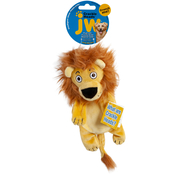 Petmate JW Pet Crackle Heads Plush Leroy Lion Dog Toy, Medium