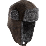 Isotoner Lake of Isles Classic Plaid Trapper to Sherpa Hat