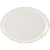 Lenox French Perle Bead White Oval Platter