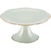 Lenox French Perle Ice Blue Pedestal Cake Plate