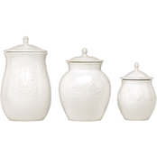 Lenox French Perle White 3 pc. Canister Set