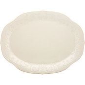Lenox French Perle White Oval Platter