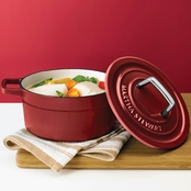 Martha Stewart Collection Collector's Enameled Cast Iron 2 Qt. Round Casserole