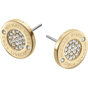 Michael Kors Logo with Clear Pave Center Stud Earrings