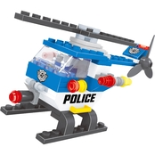 BRICTEK Police Helicopter Building Set