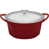 Corningware French White Cast Aluminum 5.5 Qt. Covered Dutch Oven