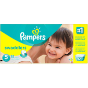 Pampers Swaddlers Giant Pack Diapers Size 5 (27+ lb.)
