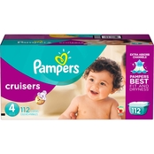 PAMPERS CRUISERS SIZZE 4 GIANT 112CT (22-37 lbs)