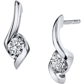 Sirena 14K White Gold 1/5 CTW Signature Dangling Earrings