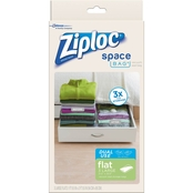 Ziploc Space Bag Large Flat Dual Use 3 pk.