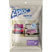 Ziploc Space Bag Travel Bag 2 pk.