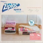 Ziploc Space Bag Tote and Flat Bag Organizer System