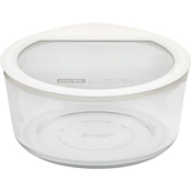 Pyrex 7 Cup Premium Glass Storage with Glass Lid with Silicone Rim