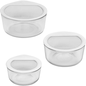 Pyrex 6 pc. Premium Glass Storage Set with Glass Lids with Silicone Rims
