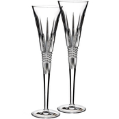 Waterford Lismore Diamond 2 pc. Toasting Flute Set