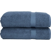 Linum Turkish Cotton Herringbone 2 Pc. Bath Towel Set
