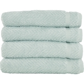 Linum Turkish Cotton Herringbone 4 Pc. Hand Towel Set
