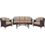 Hanover Outdoor Furniture Gramercy Wicker 4 pc. Patio Seating Set