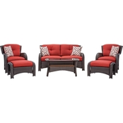 Hanover Outdoor Furniture Strathmere Wicker 6 pc. Patio Set