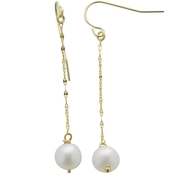Imperial 14K Yellow Gold Cultured Pearl Drop Earrings