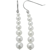 Imperial Graduated Cultured Pearl Drop Earrings