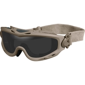 Wiley X Spear Tan Goggle 2 Lens Kit