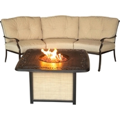 Hanover Outdoor Furniture Traditions 2 pc. Seating Set with Cast-Top Fire Pit