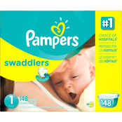 Pampers Swaddlers Diapers Size 1 (8-14 lb.)
