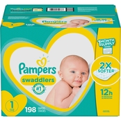 Pampers Swaddlers Diapers Size 1 (8-14 lb.) Choose Count