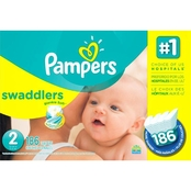 Pampers Swaddlers Diapers Size 2 (12-18 lb.)