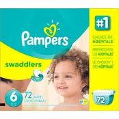 Pampers Swaddlers Giant Pack Diapers Size 6 (35+ lb.) 72 Count