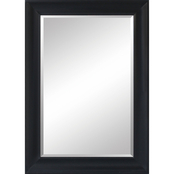Simply Perfect 24 x 36 in. Framed Mirror, Black