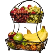 Mikasa Lattice 2-Tier Fruit Basket